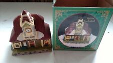 "Giftco Train Station Ceramic Votive Candle Holder ""Railway Station"" NIB"