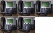 - 5x CISCO IP Phone 7942 VoIP CP-7942G Office Telephone