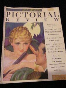 ~~~PICTORIAL REVIEW MAGAZINE~~~ AUGUST 1933~~~1930s FASHIONS~~~
