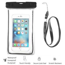 Black Waterproof Case Cell Phone Dry Bag+Strap-iPhone 8 X 7 6S+ all Smart Phones