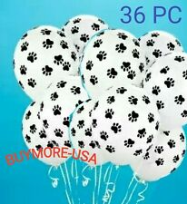 36 PAW PRINTS Latex Balloons Dog Cat Animal Birthday Party Supplies Décor