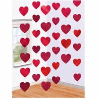 Candy Hearts Foil String Decoration 2.1m 6pk Valentines Day Love Party