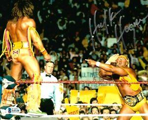 WWE HULK HOGAN HAND SIGNED AUTOGRAPHED 8X10 PHOTO WITH BECKETT COA VERY RARE 27