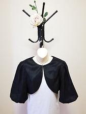 ✿♡ Womens Jacket Bolero Size S (Puff Sleeve Evening Black Formal Princess) ♡✿