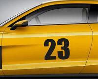 RACE NUMBERS font 06. Custom car vinyl door sticker. Track trails transfer.