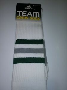 New Mens Adidas Team Socks XLarge Eagles Jets Green Silver striped nos deadstock
