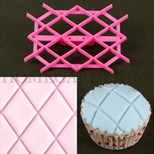 Diamond Sugarpaste Craft Icing Baking Quilt Cake Fondant Cutter Embossing Mould