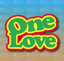"One Love Rastafari Rasta Bob Marley 4"" Custom Vinyl Decal Sticker"