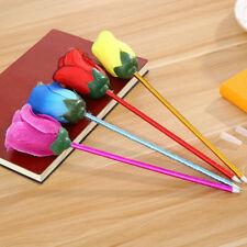 2Pcs Novelty Rose Flower Ballpoint Pen Kids Stationery School Office Supplies