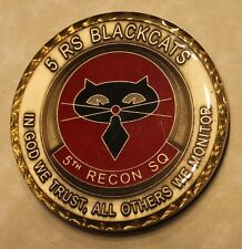 5th Reconnaissance Squadron Blackcats U2 Chief Williams Air Force Challenge Coin