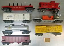 LOT of 7 LIONEL O Scale Freight Train Cars & Caboose 6357 6511 6656 3520 MORE!