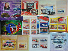 MOTOR VEHICLES Bikes Cars Formula 1 Fire engines 100 diff sheets MNH Lot #SL26