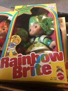 1983 MATTEL NIB CANARY PattyO'Green & LuckySPRITE RAINBOW BRITE DOLL NEW IN BOX