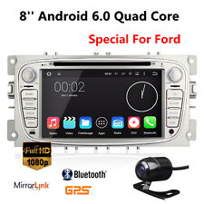 Android 6.0 2Din Car DVD Player GPS Navi Radio for Ford Mondeo Focus S-Max +cam