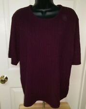 Sag Harbor NWT Womens Plus Raisin Color Sweater Top Size 1X