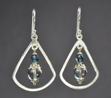 Handcrafted, Silver plated with faceted and spherical glass. Silver accents.