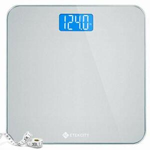Etekcity Digital Body Weight Bathroom Scale with Body Tape Measure and Round