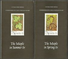 CANADA 1971 THE MAPLE IN SPRING & SUMMER BOOKLETS,5-FOLD EACH.CANADA POST
