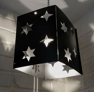 lampshade light shade SPACE  star stars BLACK