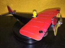 Vtg Girard 1920's Tin toy airplane Prop turns when wheels are moved. repainted.