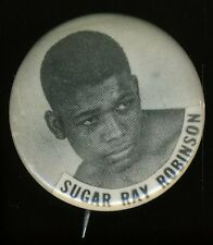 Sugar Ray Robinson Pin Back 1 1/2 From Actual Sept 12 1951 Fight Vs Randy Turpin