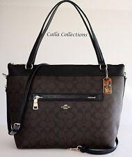 New COACH Signature Tyler Tote Handbag/Purse– F58286- Gold/Brown/Black