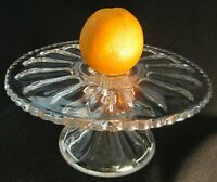 Pedestal Cake Salver Stand with Brandy Well, Peerless #300 Heisey Glass, EAPG