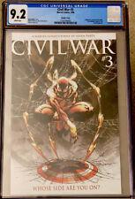 CIVIL WAR #3 CGC 9.2 MICHAEL TURNER 1:10 VARIANT MARVEL (2006) NM
