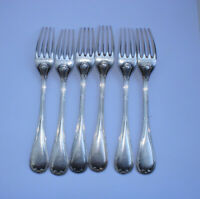Antique French Christofle Set of 6 Forks Silver Plated Flatware Signed Circa19th