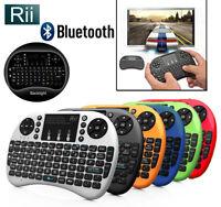 Rii i8+ BT Mini Wireless Bluetooth Backlight Backlit Touchpad Keyboard w/ Mouse