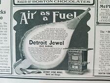 1901 Detroit Jewel gas range stove air as a fuel vintage ad