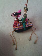 Indian Rajasthani Man and Horse Hanging Ornament Horse Adorable Handmade