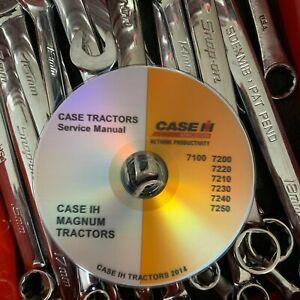 BEST Case IH 7220 7230 Magnum Tractor Service Repair Manual CD