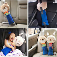 Cute Animal Car Seat Strap Belt Cover Doll Toy Adjustable Pillow Pad Kid Cushion
