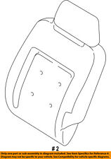 FORD OEM Rear Seat-Seat Cover-Top Back 2L1Z7866800AS