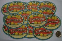 20  EXCELLENT VICTORIAN DUCKWORTH  CODD HAMILTON POP BOTTLE LEMONADE LABELS