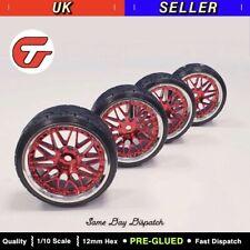 4pc 1/10 Drift Car Tyres Plastic Wheel Rim Hard Tyre for HSP Tamiya HPI Kyosho