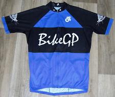 Bike Gp Champ Sys Cycling Bike Racing Jersey Full Zip Blue White Black Sz Large