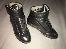 MAISON MARTIN MARGIELA Future Gunmetal Metallic Hightop Sneakers SZ 41 US 8 NEW