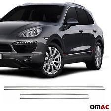 Fits Porsche Cayenne 2003-2018 Chrome Side Door Trim Streamer S.Steel 4 Pcs