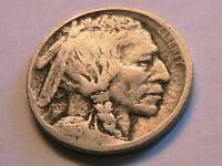 1913-P T-2 Buffalo Nickel Fine (F) Grey Tone Original Indian Head 5C USA Coin