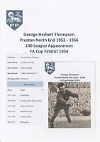 GEORGE THOMPSON PRESTON NORTH END 1952-56 RARE ORIGINAL SIGNED MAGAZINE CUTTING