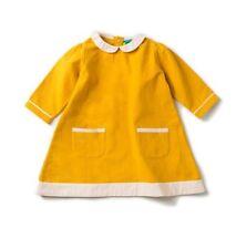 Little Green Radicals Organic Cotton Corduroy Yellow Tunic Dress 1 - 2 years
