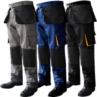 Cordura Cargo Trousers Working Pants Combat Knee Padded Work Wear