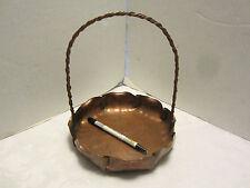 "ARTS & CRAFTS 1900's copper Basket # 820 ""Craftsman Co."" Hand made Original"