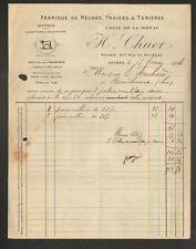 """NEVERS (58) OUTILS pour SABOTIERS & pour MACHINES à BOIS """"H. CHUET"""" en 1918"""
