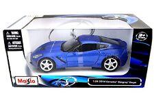 Maisto 2014 Chevrolet Chevy Corvette C7 Blue 1/24 Diecast Car 31505