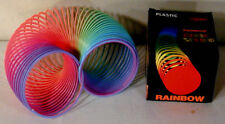 6 MAGIC RAINBOW COIL SPRING toy moving coils snake toys coiled novelties new