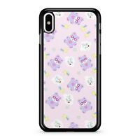 Hug Me Clouds Purple Cute Teddy Bear Colourful Stars Pattern 2D Phone Case Cover