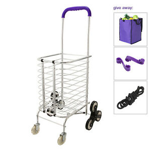 Stair Climbing Cart 8 Wheels Folding Luggage Trolley Hand Truck Shopping Cart